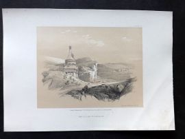 David Roberts Holy Land 4to 1856 Antique Print. Pillar of Absalom, Jerusalem